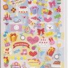 Kamio Happy Birthday Postcard Message Sticker Sheet