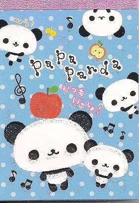 San-X Papa Panda Mini Memo Pad