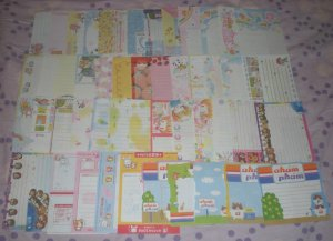 50 Vintage Japanese Crux, Kamio, Q-Lia, San-X, Pool Cool Memo Sheets Lot