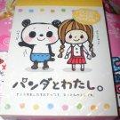 Kamio Girl and Panda Mini Memo Pad