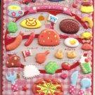 Q-Lia Kids Seal Various Kids' Lunch Foods Puffy Sticker Sheet