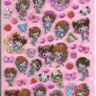 Q-Lia Hopping Girls Hard Epoxy Sparkly Sticker Sheet
