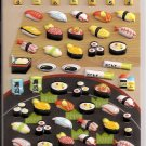 Crux Sushi Platter Puffy Sticker Sheet