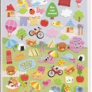 Kamio Picnic Postcard Sticker Sheet