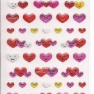 Active Corporation Sparkly Smiling Hearts Sticker Sheet