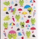 Kamio Frogs, Rain, and Umbrellas Sticker Sheet