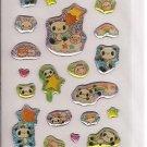 Crux Pandas, Bunnies, Hamsters, and Stars Sticker Sheet