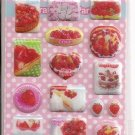 Lemon Co. Puffy Strawberry Desserts Mini Sticker Sheet