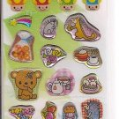 Lemon Co. Sparkly Animals and Foods Mini Sticker Sheet