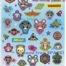 Japanese Space Monsters/Aliens Sticker Sheet