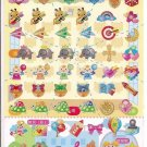 Kamio Happy Items Sparkly Sticker Sheet