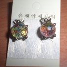 Bear Multicolored Glass Balls Earrings