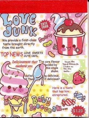 Q-Lia Love Junk Mini Memo Pad
