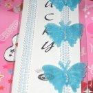 Blue Butterflies Bra Straps