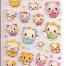 Q-Lia Eggshell Cats with Rhinestones Sticker Sheet