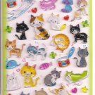 Q-Lia Cats Hard Epoxy Sticker Sheet