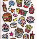 Q-Lia Sparkling Junk Food Sticker Sheet