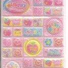 Lemon Co. Lame Happy Smile World 3D Mini Sticker Sheet