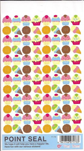Wizard Co. Very Berry Cupcakes and Sweets Sticker Sheet