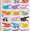Mind Wave Colorful Hippos Hard Epoxy Sticker Sheet