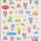 Crux/Kamio (?) Funky Animal Sparkly Sticker Sheet