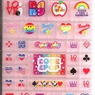 Wizard Co. Love & Pop 3D Hard Plastic Blocks Sticker Sheet