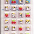 Lemon Co. Hamsters and Fruits 3D Puffy Blocks Mini Sticker Sheet