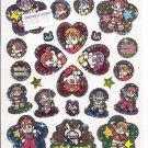 Showa Note Mini Moni Cute Japanese Band Sparkly Sticker Sheet