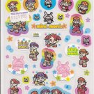 Showa Note Mini Moni Cute Japanese Band Rabbits Sparkly Sticker Sheet