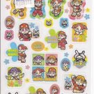 Showa Note Mini Moni Cute Japanese Band Glittery Green Sticker Sheet