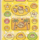 Sanrio Pom Pom Purin Glittery Tropical Hawaii Sticker Sheet