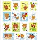Kamio Happy Memorial Sky Stamp Sticker Sheet