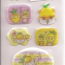 Sanrio Corocorokuririn Tropical Holographic Sticker Sheet