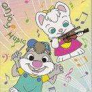 Shima Village Co. Enjoy Music Animals Mini Memo Pad