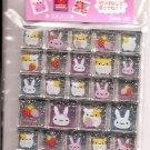 San-X Hamsters, Bunnies, and Strawberries Glittery 3D Blocks Sticker Sheet