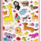 Q-Lia Animals Glittery Hard Epoxy Sticker Sheet