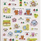 Japanese Colorful Animal Friends Sticker Sheet