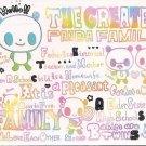 Crux The Greatest Panda Family Mini Memo Pad