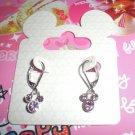 Disney Mickey Purple Stone Earrings
