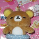 San-X Rilakkuma Bear Swimming Floating Tube Plush Keychain/Cell Phone Strap