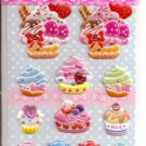 Lemon Co. Cupcakes, Macarons, and Candies Mini Sticker Sheet with Rhinestones