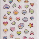 Crux Pink Colorful Hearts Sparkly Sticker Sheet