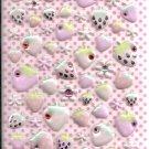 Q-Lia Strawberries and Flowers with Rhinestones Sticker Sheet