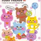 Kamio Funny Friends Mini Memo Pad