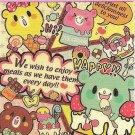 Kamio Cream Bear Sweets Mini Memo Pad