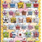 Crux Colorful Pigs Puffy Sticker Sheet