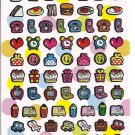Crux Funny Punch Friends and Items Sparkly Sticker Sheet