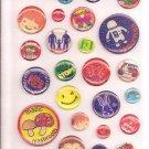 Mind Wave Badge Collection Sparkly Sticker Sheet
