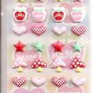 Lemon Co. Stars, Hearts, and Random Items Puffy Mini Sticker Sheet
