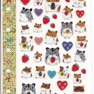 Ark Road Hamsters and Strawberries Schedule Sticker Sheet